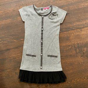 🌈Derhy Kids Gray Cotton Cashmere Dress L
